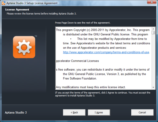 Aptana License Agreement