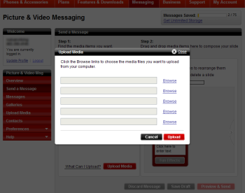 Screenshot of the Upload Media box you see after clicking the Upload Media button